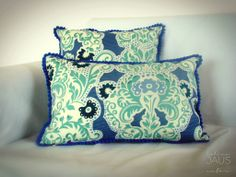 Almohadón Aquamarine Flowers  40 x 40 35 x 50
