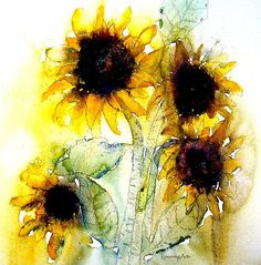Paul Lovering ``` gorgeous sunflower painting