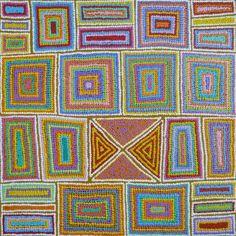 Warlukurlangu Artists - Juliette Nampijinpa Brown - Ngapa Jukurrpa (Water Dreaming) - Pirlinyarnu - 1012/12