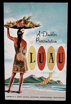 A Tiki poster - Luau