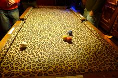 HOLY PATSY CLINE......is this even possible? Leopard print pool table - animal print - cheetah print
