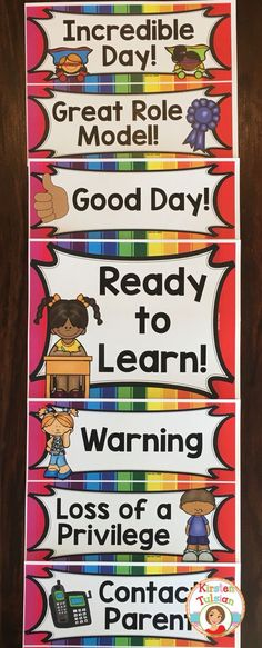 This behavior chart is perfect for a Kinder-5th grade classroom and comes with matching classroom rules in a bright rainbow theme!