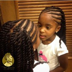 Cute style with the braids and twists.