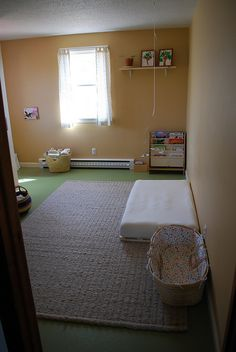 Our very modest Montessori-style baby's room, before he was born