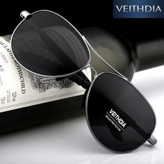 Veithdia 2016 nueva polarizado gafas de sol para hombre de la marca de  conducción gafas de ab581c075e41