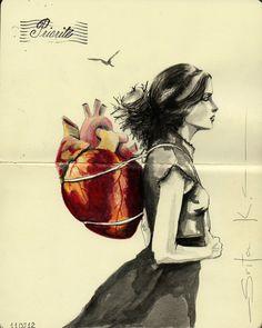 Attention, ne choisissez pas un trop gros cœur, si vous pensez le porter toute la vie. Il sera lourd sur le dos au fil des années .