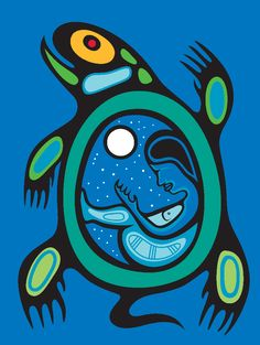 Turtle Clan (Mak-kee-an-nuk Dodem) Native Canadian, Canadian Art, American Indian Art, Native American Art, Art Inuit, Aboriginal Painting, Aboriginal Art Animals, Arte Tribal, Tribal Art