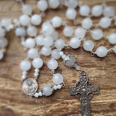 Snow Rosary, Celtic rosarosary, y, Catholic rosary, Goddess Mary rosary, mother mary rosary, holy rosary, goddess prayerbeads, goddess mary by MagickAlive on Etsy