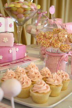 SO cute! Cotton Candy Themed Bridal Shower Dessert Buffet