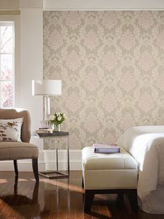 Pattern: :: Book: Heritage Home by Park Place Studio and York :: Wallpaper Wholesaler Furniture, Room, Front Room, Home, Cottage Wallpaper, House Styles, Home Deco, Interior Design, Wall Coverings