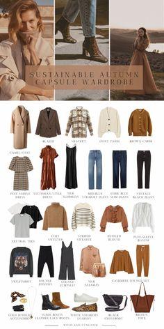 Fall Capsule Wardrobe, Capsule Outfits, Fashion Capsule, Mode Outfits, Fall Outfits, Fashion Outfits, Fashion Pants, Winter Wardrobe Essentials, Minimalist Wardrobe Essentials