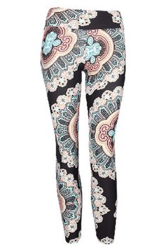 Liquido Pattern Leggings - Soul Mandala Teal