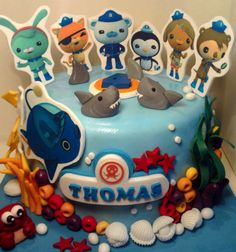 Personalised handmade Octonauts cake topper icing by MonicaToppers