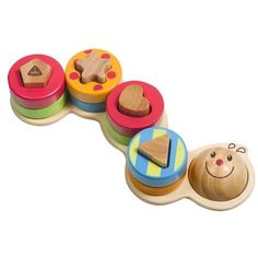 Shape Sorting Caterpillar by LITTLE LITTLE TOY CO. $22.94. 18 months & up. Friendly caterpillar is great for little hands to develop fine motor and cognitive skills as they determine which shape fits on which caterpillar peg. Excellent for color and shape identification.