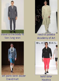 NYFW-men's Trends for Spring 2014 - find out more on our blog - http://www.dlgcreativemgmt.com/1/post/2013/09/mid-week-at-nyfw.html