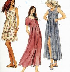 1990s GRUNGE Style Babydoll DRESS Pattern  by SewingWithMissDandy