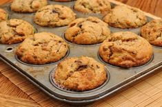 Looking for healthy banana muffins to get your day started? These have all the taste of regular breakfast muffins and none of the guilt, you won't be able to tell the difference! Banana Protein Muffins, Keto Breakfast Muffins, Banana Bread Muffins, Banana Bread Recipes, Baking Muffins, Whey Protein, Nut Recipes, Almond Recipes, Healthy Dessert Recipes