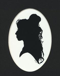 Amy Winehouse Silhouette Portrait (Hand-Cut)
