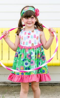 cc6926b191991 Be cool for the summer in our fun popsicle print dress! Summer Girls,  Sidewalk
