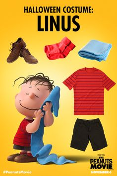 Need DIY Halloween costume ideas for the kids? Peanuts has you covered. Dress as Linus and search for The Great Pumpkin! Blanket not optional. The Peanuts Movie opens in theaters November 6!