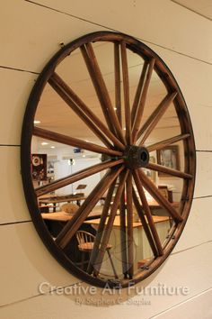 Creative Art Furniture Add A Touch Of Western Style To Your Home Decor With This Wagon Wheel Mirror Measurements 41 Dismeter