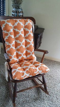 Custom Cinnamon Fynn Quatrefoil Rocking Chair By MayberryandMain