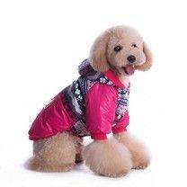 Enjoying Waterproop Warm Coat Dog Cat Windproof Weather-proof Coat Clothes Apparel Red -X-Large