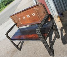 https://flic.kr/p/qMUQFu | Old Truck Tailgate Bench | Recycled Salvage Design www.recycledsalvage.com