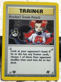 Pokemon 1st Edition Holographic Rockets Sneak Attack