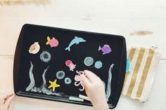 Keep the kids entertained on long flights, long car rides or in the hotel room with this DIY craft idea: a magnetic travel chalkboard from Alamo Chief Travel Guide Crissy Page. Make one for your next family vacation!