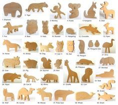 ANY 4 animals Organic wooden toy Animals from all by mielasiela