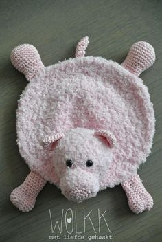 Crochet Baby Toys, Crochet Bear, Crochet Patterns Amigurumi, Crochet Animals, Crochet Dolls, Animal Rug, Lovey Blanket, Baby Lovey, Crochet Accessories