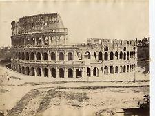Albumen Large Photo Beautiful 1860s ROME ITALY by Mang ? Dark Image Very Nice