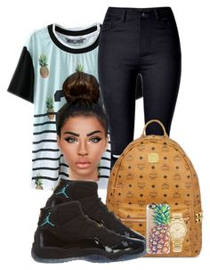 """""""gammablue11s♡♡♡"""" by ballislife ❤ liked on Polyvore featuring MCM, NIKE, Michael Kors and Casetify"""