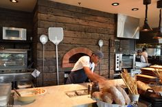 Cool pizza/oven work area