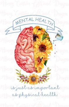 Positive Mental Health, Mental And Emotional Health, Mental Health Matters, Inspirational Mental Health Quotes, Mental Health Slogans, Mental Health Awareness Month, Body Positive, Mental Illness, Just In Case