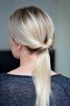 "Easy updo"""" the color though, im dying"