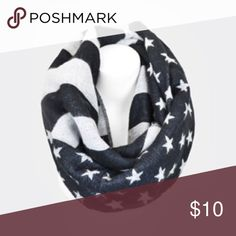 Brand New! Patriotic Infinity Scarf Navy Blue print infinity scarf. Soft and warm! This is a great winter scarf. Brand new!! 💕 Accessories Scarves & Wraps