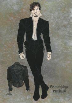 Gregg Barnes' sketch for Shakespeare in Something Rotten