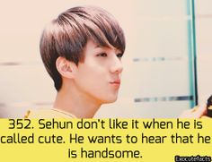 Well then maybe he should stop being so god damn cute But he is all that cute, sexy, handsome, hot. Kai Exo, Exo K, Hunhan, Exo Ot12, Chanyeol Baekhyun, Park Chanyeol, Exo Facts, Funny Facts, Shinee