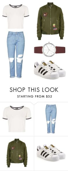"""Untitled #72"" by bruhash ❤ liked on Polyvore featuring Topshop, adidas and DKNY"