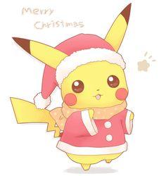 ChristmasChu. Pikachu (by ちろる [Chiroru], Pixiv Id 371566)
