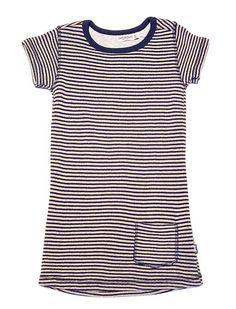 Imps & Elfs Short Sleeve Pocket Stripe Dress Blue Desert – Dani BOY Kids