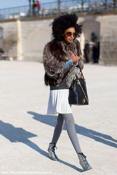 Julia Sarr Jamois, Fashion Editor of Wonderland Magazine . Black Women Fashion, Womens Fashion, Business Casual Outfits, Street Chic, Street Beat, Fashion Editor, Street Style Women, Ideias Fashion, Autumn Fashion