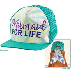 2edbb19cbc5 Grab the Bride a Mermaid For Life Hat for her mermaid theme bachelorette  party! #