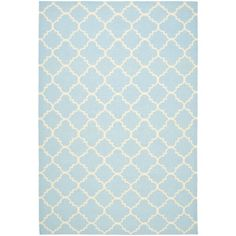 "Target, ""Dhurries Wool Area Rug - Light Blue/Ivory"""