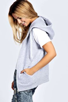 Womens Looks & Trends at boohoo Boohoo, Hoody, Grey, Jumpers, Fashion Trends, Collection, Cardigans, High School, Tops