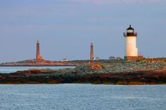 Straitsmouth Island Lighthouse and Thacher Island Twin Lights, Rockport, Massachusetts