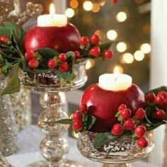 Cristmas ideas centerpies.... #candles