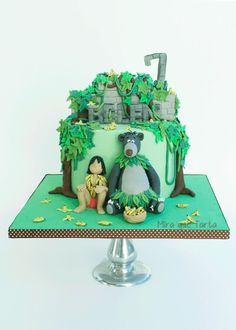 The jungle book cake by Jungle Book Party, 3rd Birthday, Birthday Parties, Animal Cakes, Character Cakes, Disney Cakes, Cake Boss, Book Themes, Jungle Animals